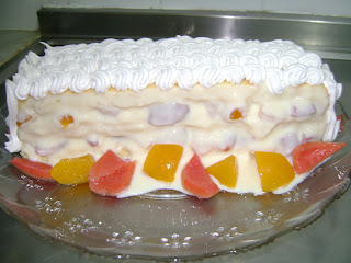 de pave com massa de bolo de limao