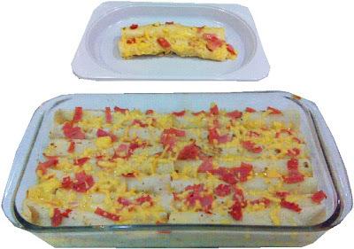 Flautas de queso patagrás y jamón