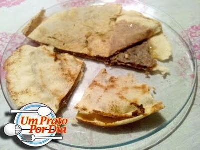 O prato de hoje é…Pão Pita Recheado de Kafta (Arais) e também a bebida Ayran