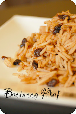 BARBERRY PILAF - PILAF AUX BARBERRIES