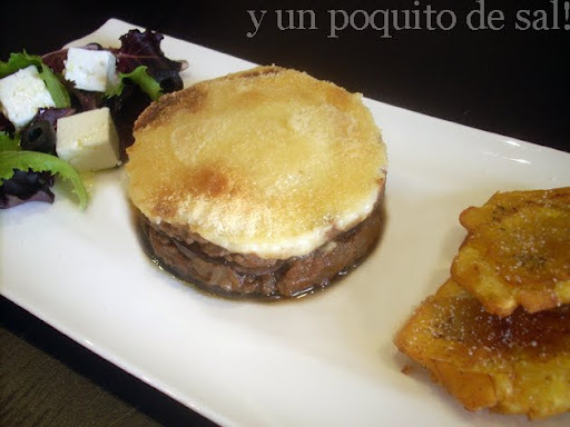 [whole kitchen] moussaka...con tostones