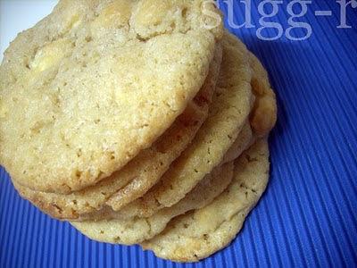 galletas de mazapán y chocolate blanco