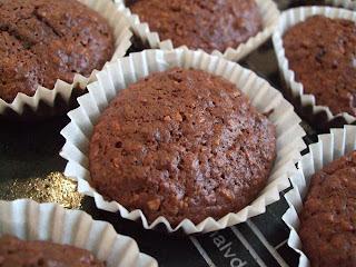 Chokolade-/banan muffins