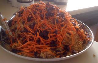 Arroz Afegão com Carne, Cenoura e Passas (Qabili)