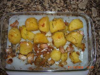 tender assado com batatas
