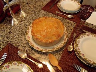 torta salgada com recheio de ovo codorna e frango