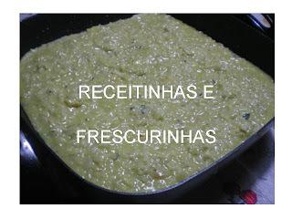 Risoto de pera e gorgonzola
