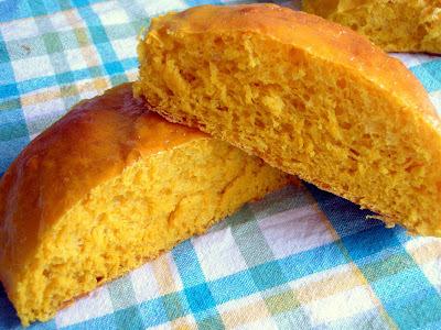 pão de abóbora cabotiá