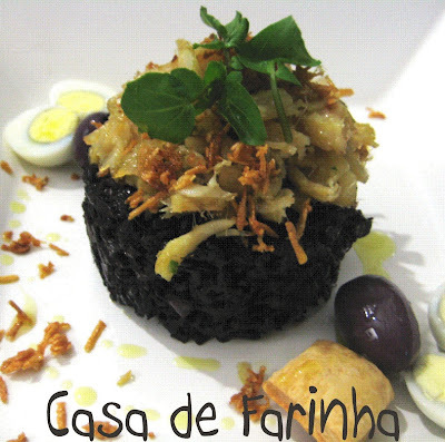 Risoto Negro de Bacalhau