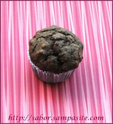 Muffin de Chocolate e Nozes