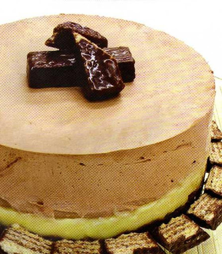 Torta Mousse de Chocolate com Bis