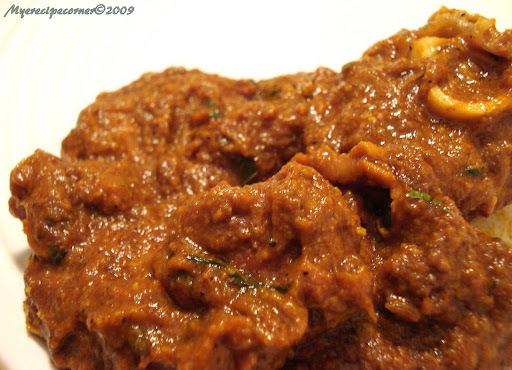 Chettinad Mutton Masala( Chettinad Lamb Curry)