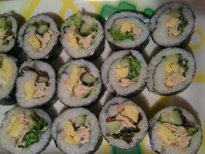 de omelete para para enrolar o sushi