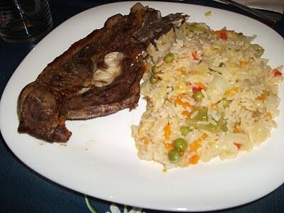 arroz para acompanhar peixe frito