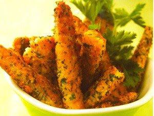 Tiras de pollo al cilantro