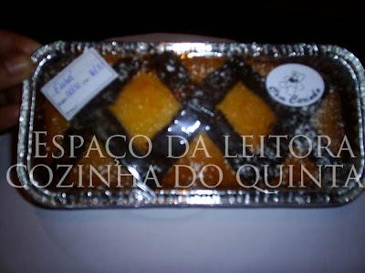 bolo de laranja de liquidificador da embalagem da farinha sol