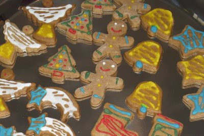 Gingerbread men -bolachas de natal!