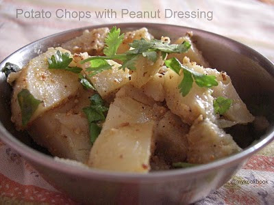Potato Chops with Peanut Dressing