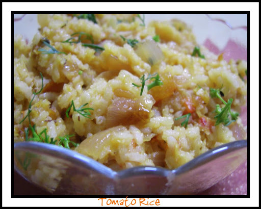 Tomato Rice with a Travelogue