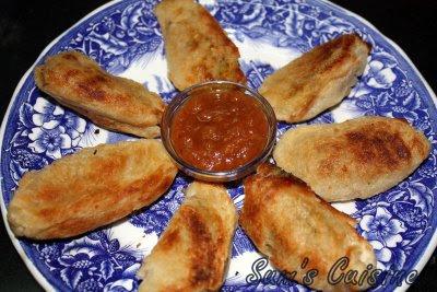 Potato-Bread Rolls - Fat free, hot 'n crisp evening snack