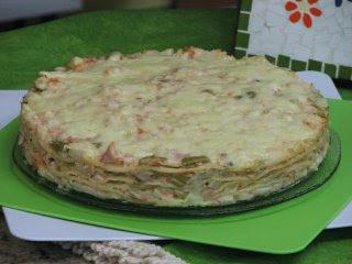 torta de linguiça toscana de liquidificador