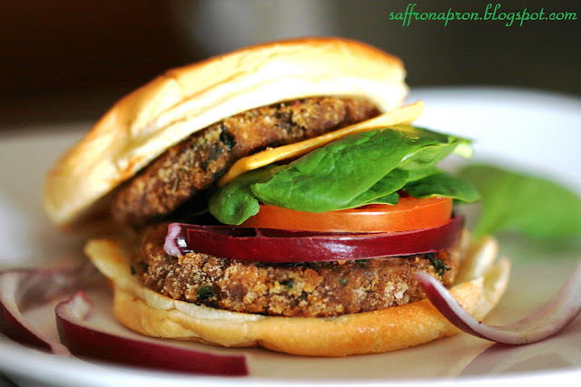 Vegetable patty/cutlets burger