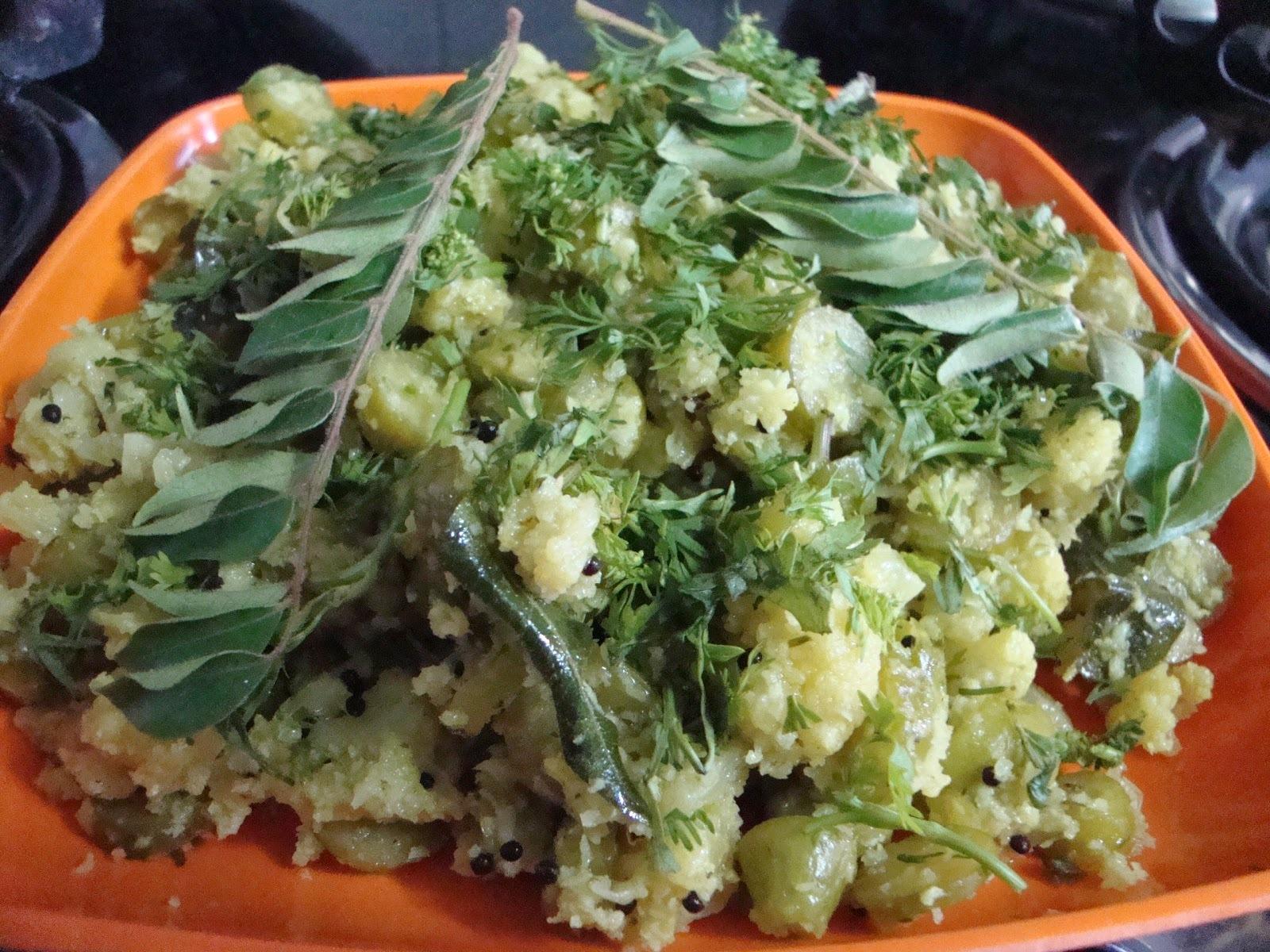 Flower, Tendli [ ivy gourd, kovakkai ] green masala curry
