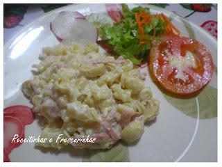 molho para salada de macarrão com creme de leite
