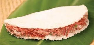 Carne desfiada na tapioca
