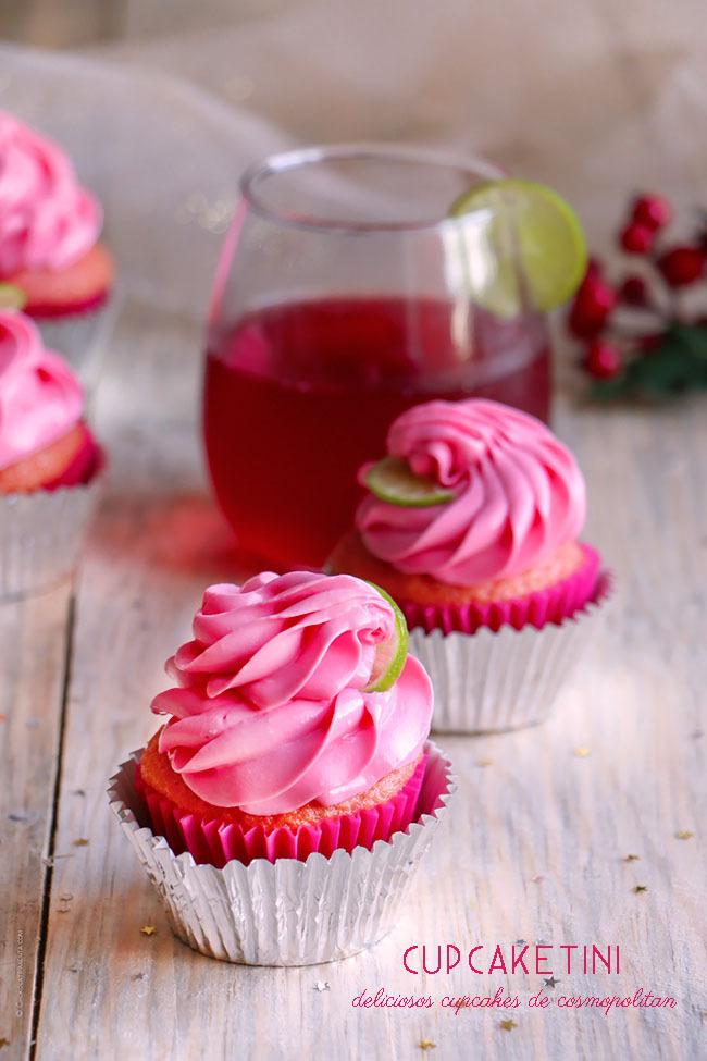 Cupcakes de Cosmopolitan