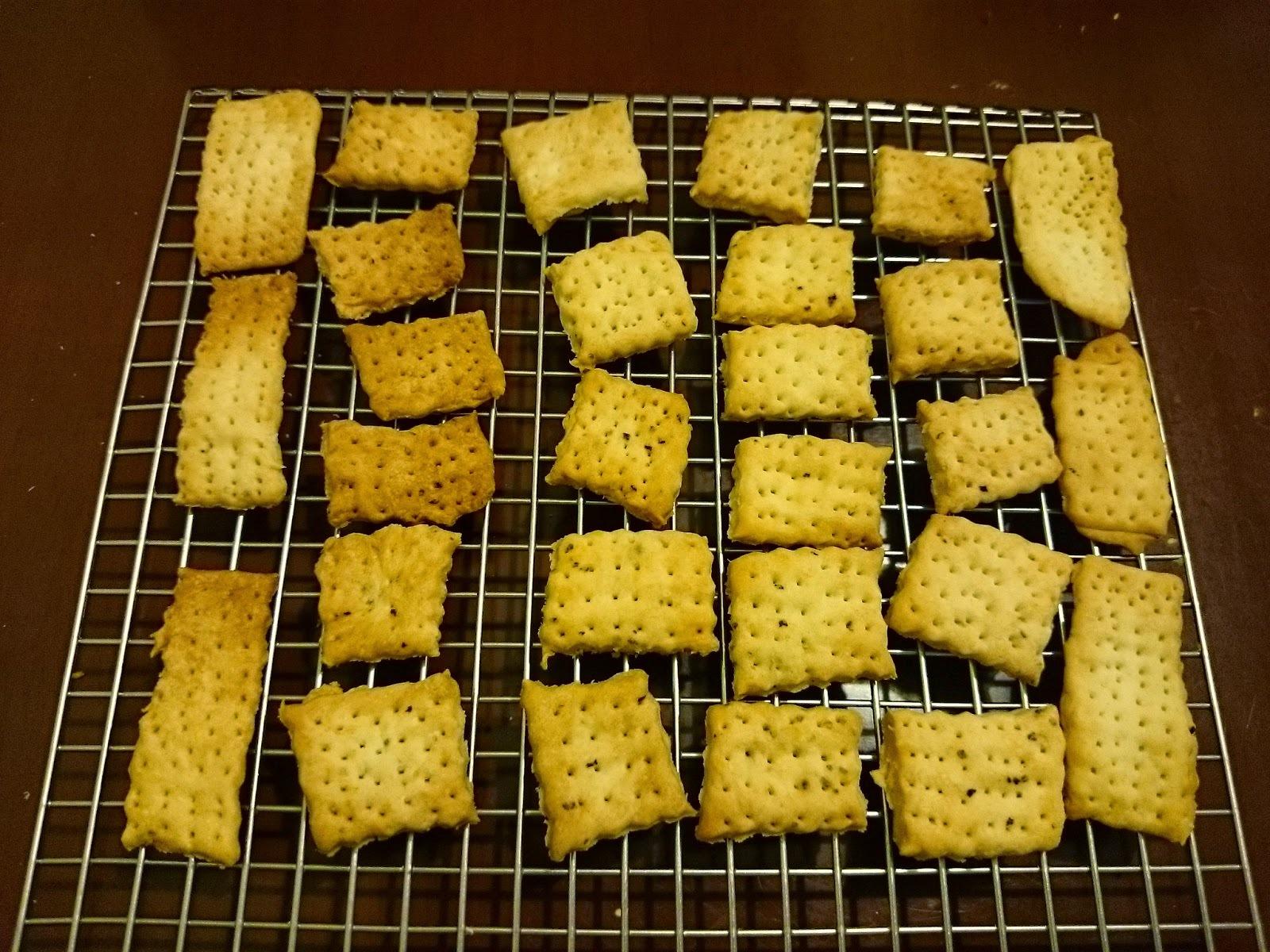 黑椒餅乾及湯種香草餐包