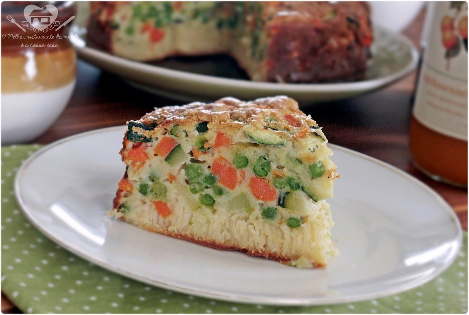 Torta salgada de legumes sem gluten