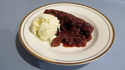 Microwave Self-Saucing Chocolate Pudding
