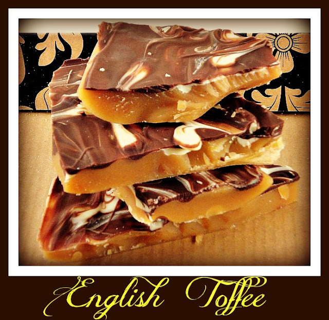 English Toffee with Chocolate Topping