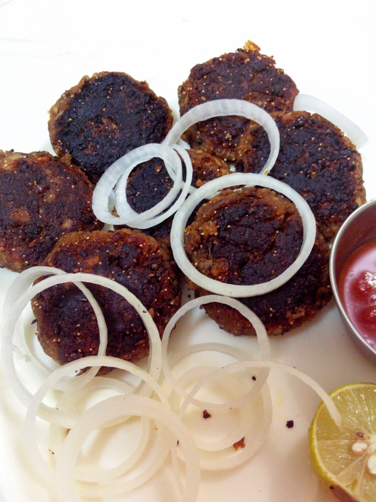 Vegetarian Rajma Galouti Kabab / Patties (With Left over Rajmas/red kidney beans)