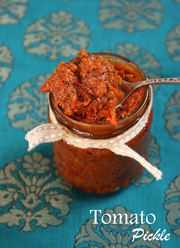 Tomato Pickle | Indian Pickle Recipe | Quick Tomato Pickle Recipe