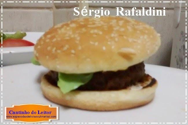 Hamburguer de carne caseiro, de Sérgio Rafaldini