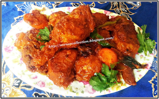 SPICY VEGETARIAN CHICKEN DRUMSTICK  WITH VEGETABLES