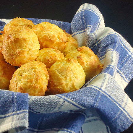 Gougères - Cheese Puffs - Away A While Recipe Favorites