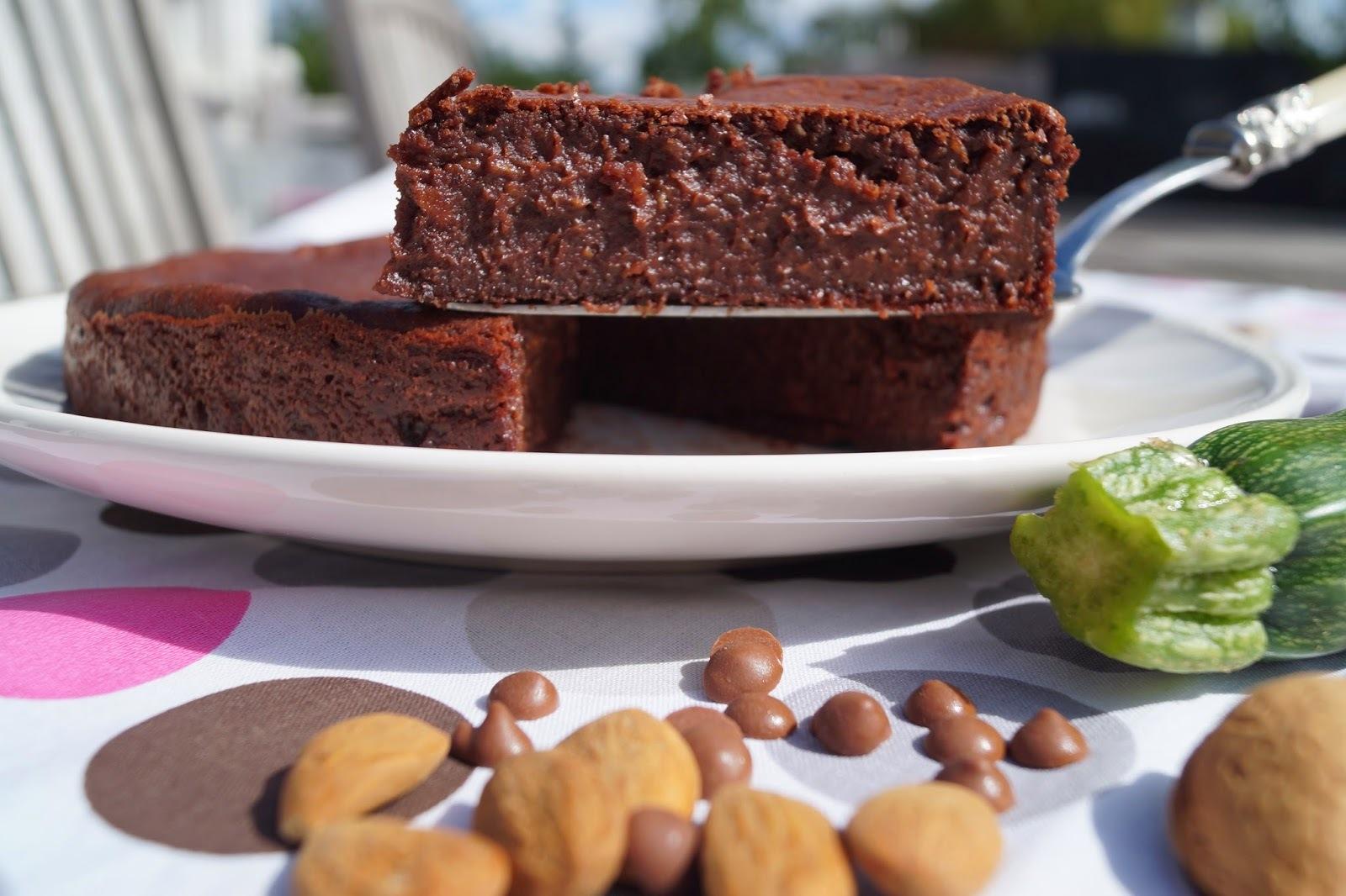 Gâteau au chocolat et aux courgettes sans gluten sans lactose sans oeufs version Thermomix