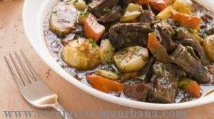 Como preparar ragout de carne con guarnición de vegetales