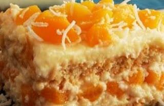 Torta de Pessego em Calda Minha Receita