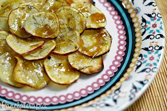 Chips de Batata Doce com Melado de Cana