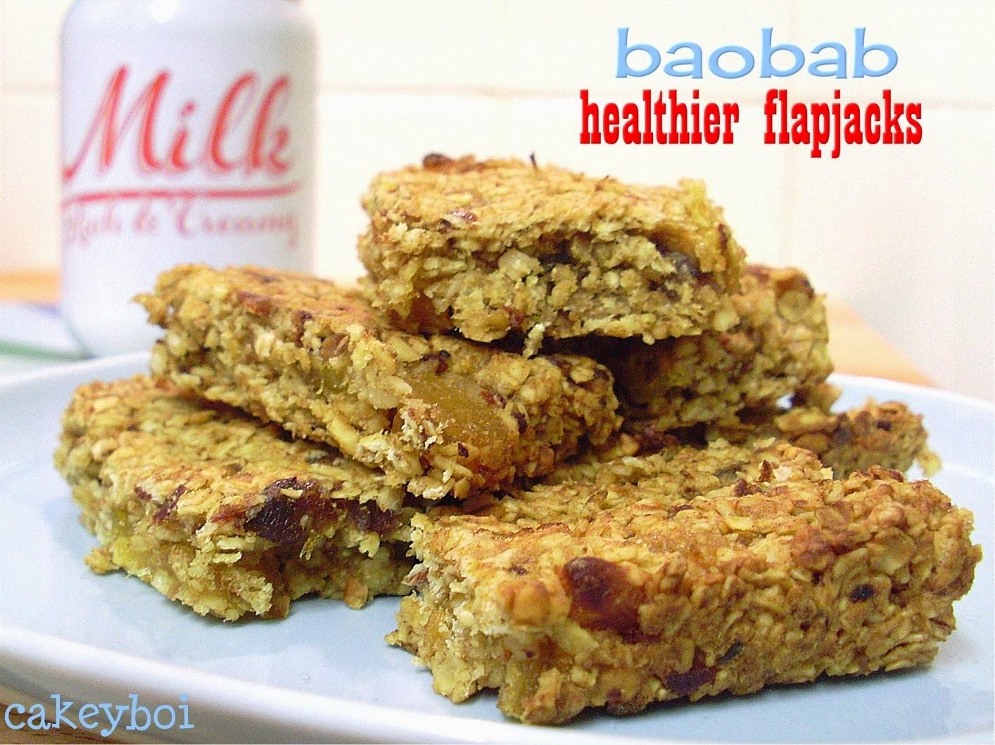 Healthier Flapjacks with added Baobab