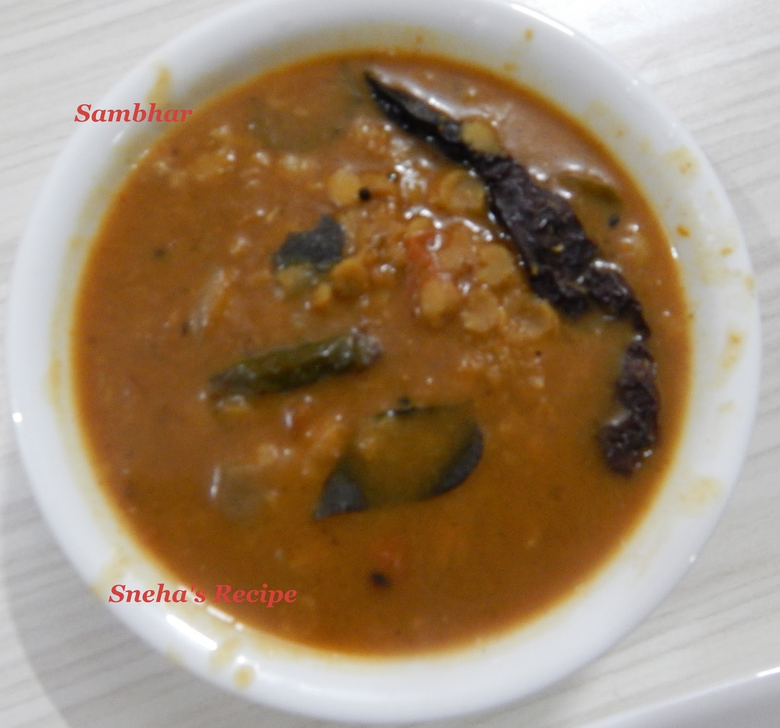 Sambar Recipe (No Coconut)