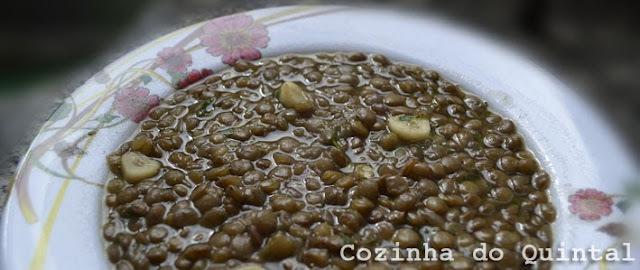 Cardápio Marmitex: Lentilha