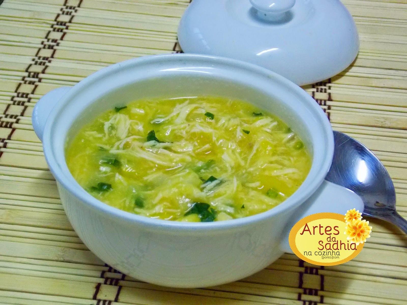 sopa de peito de frango e mandioquinha ( batata baroa )