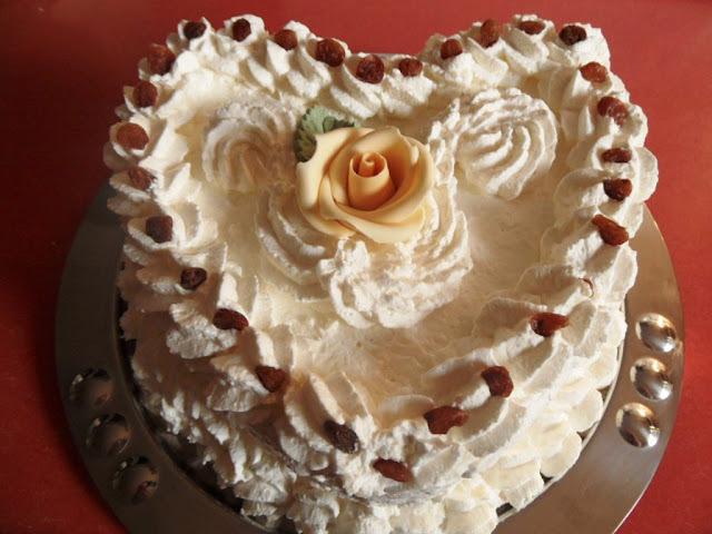 Szív torta Szüleim házassági évfordulójára