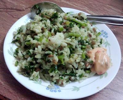 Mullangi Keerai Rice - Radish Green Rice