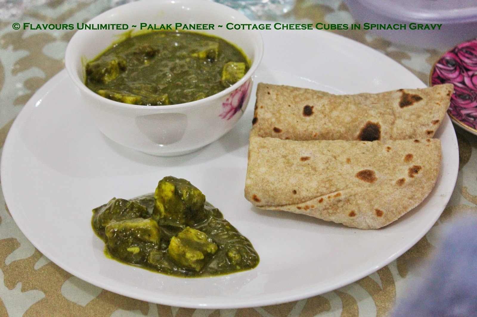 Fourth of July with Palak Paneer and Tandoori Paneer